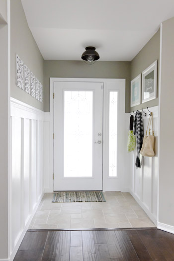 Flush Mount Ceiling Light Refreshes a Rustic Entryway : Blog ...