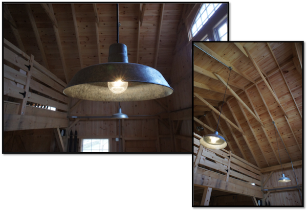 Rustic Barn Lights Give Vintage Feel To