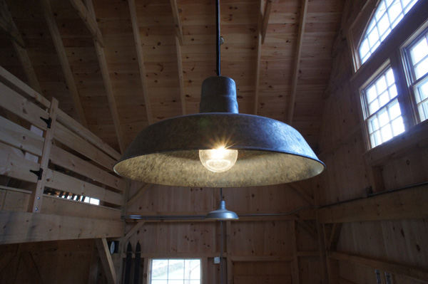 rustic barn lights give vintage feel to new barn blog