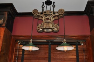 Pulley Light Fixture >> Porcelain Pendants Give Light, New Life to Vintage Hay Trolley | Blog | BarnLightElectric.com