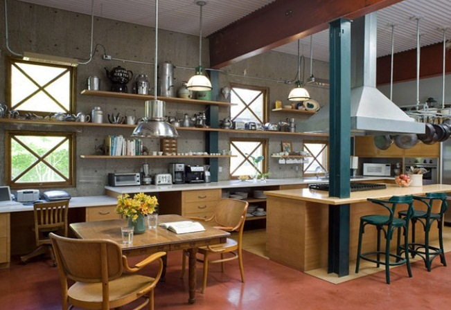 Barn Pendants Industrial Touches For Quirky Ca Kitchen