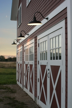 Gooseneck Warehouse Shades For Classic Red Vermont Barn
