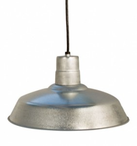 galvanized lighting. if you want a more vintage look to your light or plan hang in high traffic area consider adding wire cage the shade which will protect bulb galvanized lighting