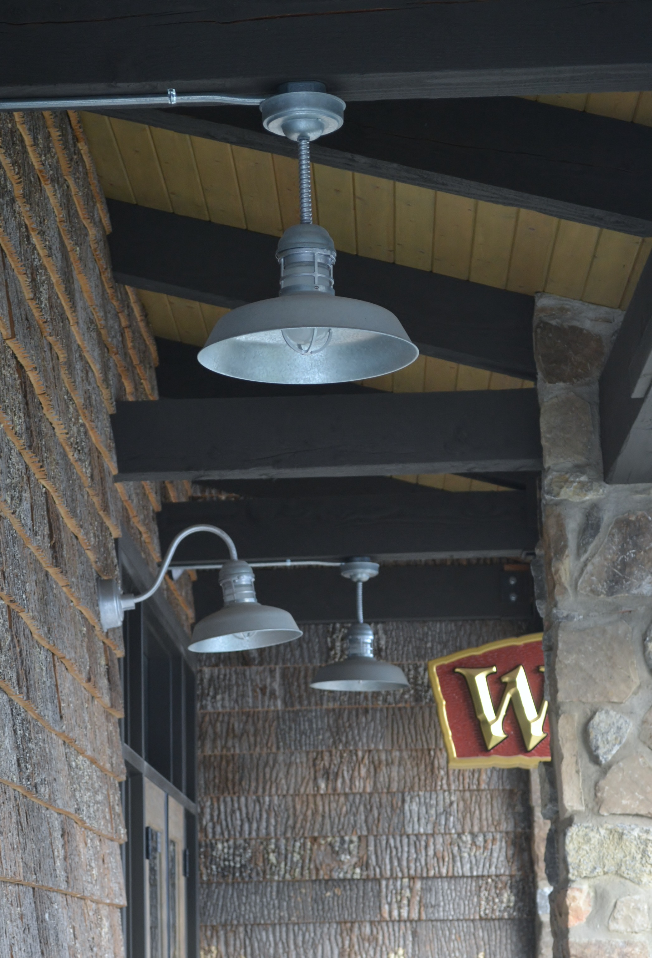 Rustic Barn Light Pendant For A Smokey Mountain Winery
