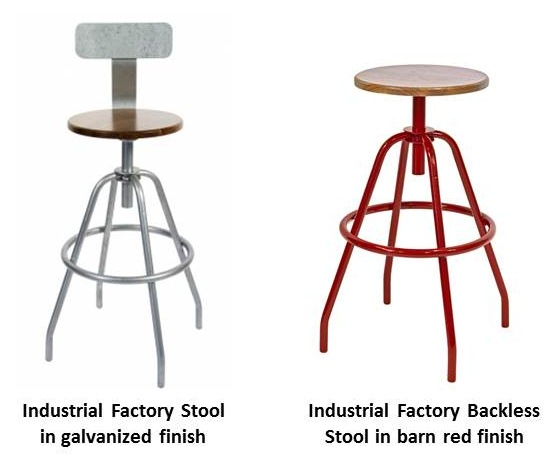 Industrial Factory Stools Add Flexible Seating To Kitchen