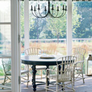 Vintage Chandelier Dresses Up Sweet Southern Porch