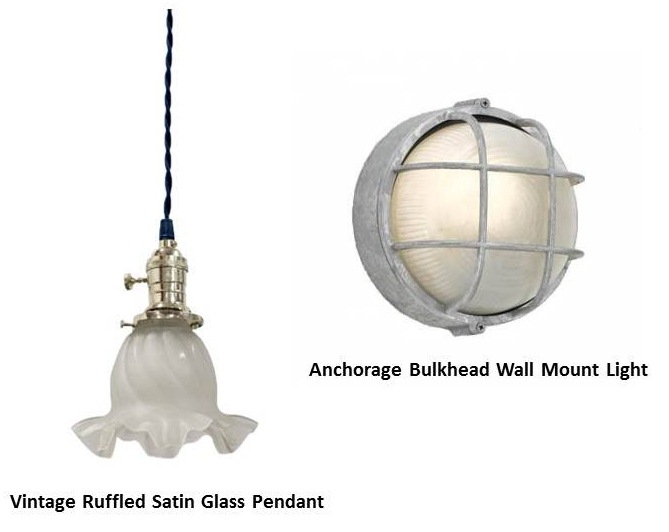 Glass Shade Pendant Adds Vintage Charm To Lakeside Cottage