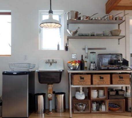 Making the most of small spaces is both a talent and an art form. As seen  recently on Houzz, this tiny kitchen is part of a 250-square-foot, ...