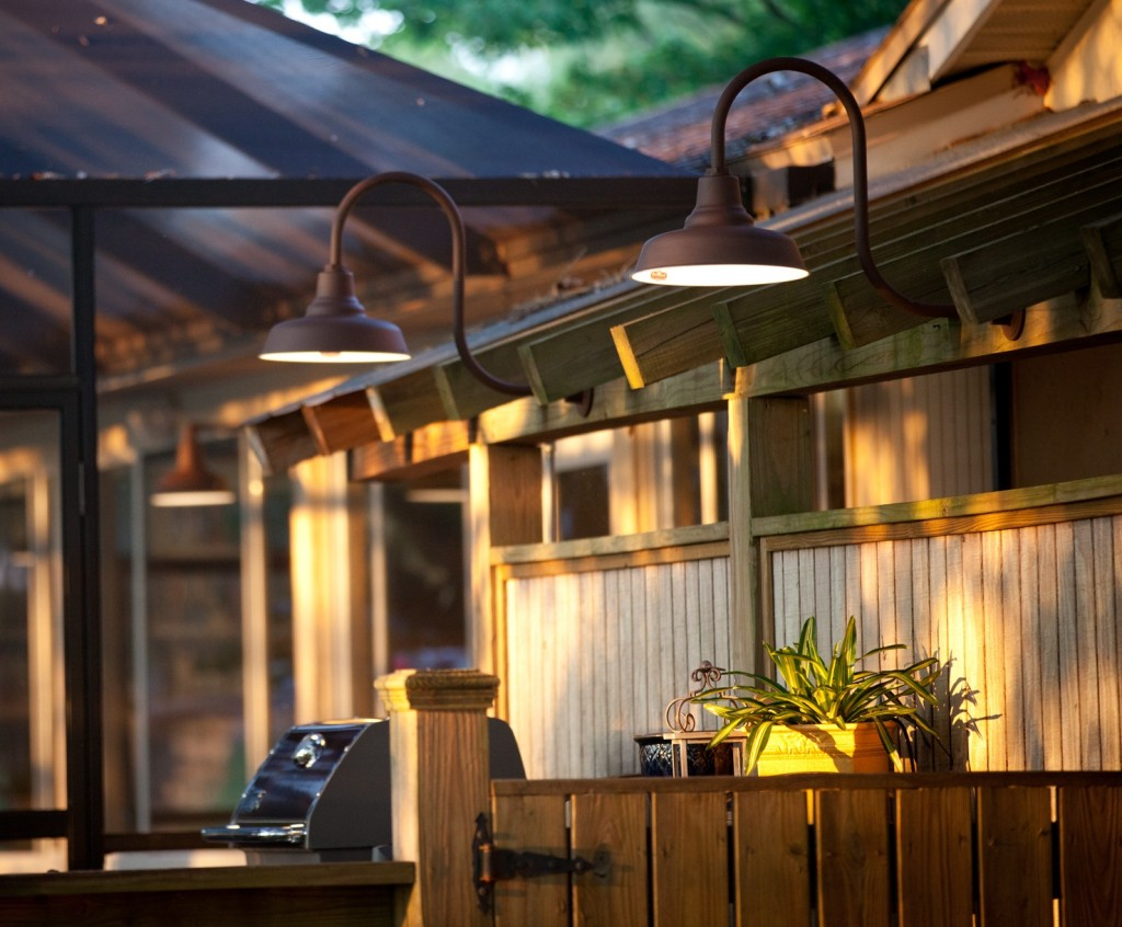 Lighting with warehouse shades a perfect fit for patio area blog featured customer professional photographer finds pool lights aloadofball Gallery