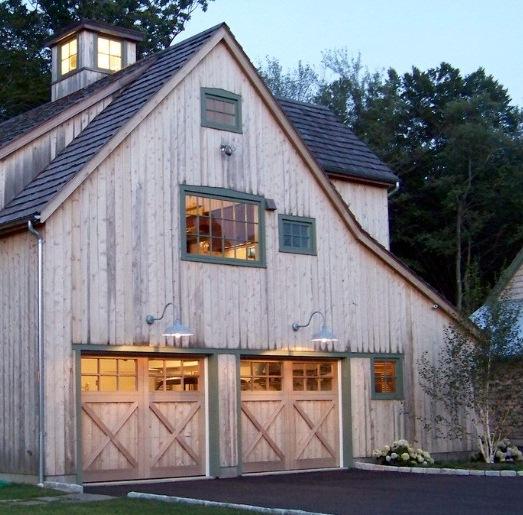 Lighting For Barns: Porcelain Gooseneck Warehouse Shades Accent Barn-Style