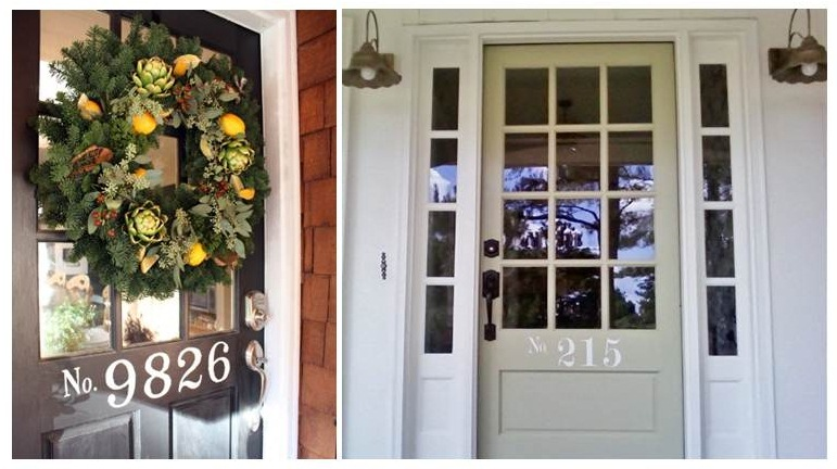 One Trend We Ve Seen Of Late Is Having The House Numbers Right On Front Door As An Integral Part Design Check Out These Two Inviting Doorways