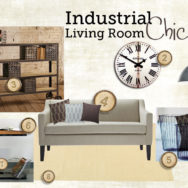 Style Me Sundays: Industrial Chic Living Room