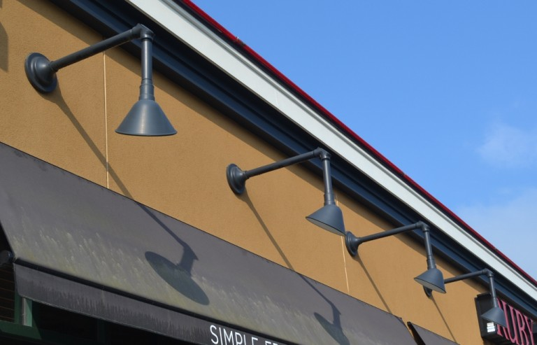 Gooseneck lighting offers options for commercial businesses blog choosing the right gooseneck arm is also very important no matter what obstacles you need to work with on your building facade there is a gooseneck arm to aloadofball Gallery