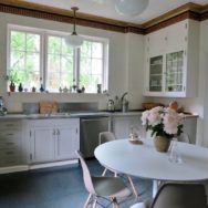 Schoolhouse Pendants Add Nostalgic Charm to Early 20th Century Home