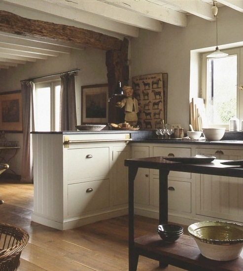Vintage Pendant Adds Historic Charm To Farmhouse Kitchen