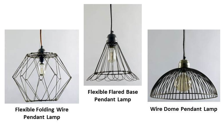 Wire Pendant Lighting Adds Visual Interest Artistic Touch To Kitchen