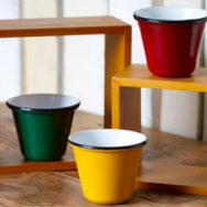 Enamelware Cups are New Addition to Industrial Home Utility