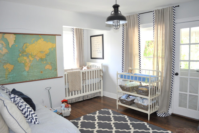 Nursery With Barn Pendant Lighting For A Rustic Touch Of