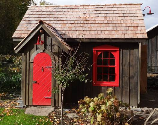 this featured customer from millgrove ontario canada lives in a 200 year old farmhouse and wanted a garden shed in a matching style - Garden Sheds Canada