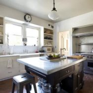 School House Pendant for a 1930's Mission-Revival Style Kitchen