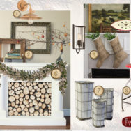 Style Me Sunday: Christmas Fireplace & Mantel