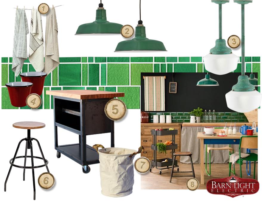 Emerald Kitchen Style Board