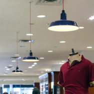 Porcelain Enamel Lighting Perfect for a Busy Mall Setting