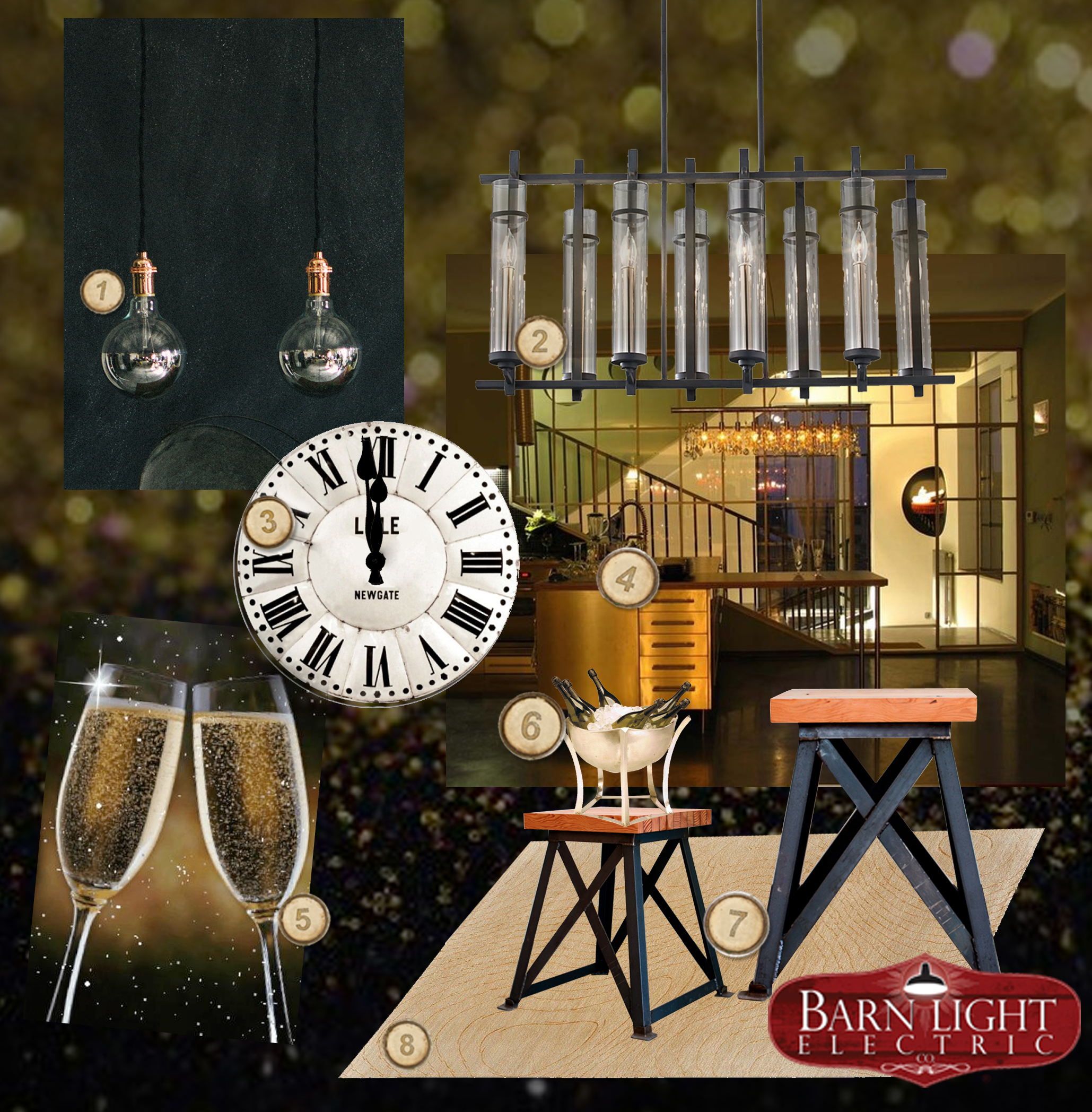 Ringing in the 2013 New Year with decor from Barn Light