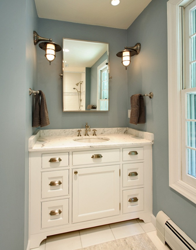 Rustic wall sconces shed light on morning evening routines blog Bathroom sconce lighting ideas