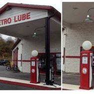 Vintage Gooseneck Lights Gives Retro Spin to Quick Lube Business