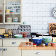Vintage Clocks Provide Functional Artwork for Kitchen