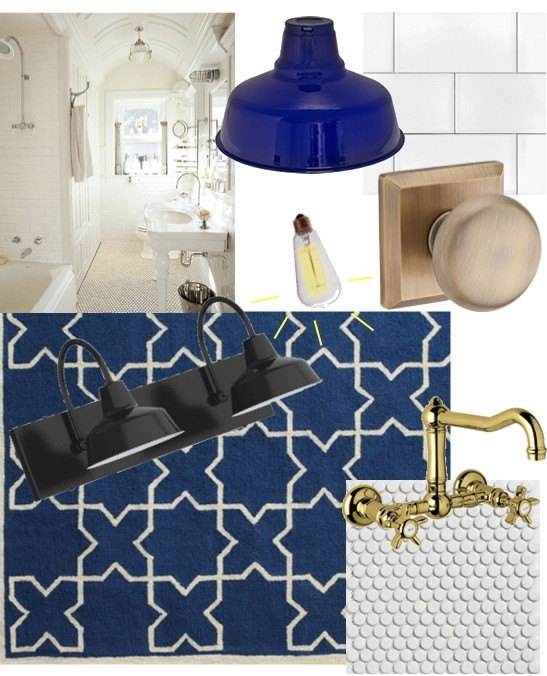 Add touches of cobalt blue to you bathroom decor for an - Cobalt blue bathroom accessories ...