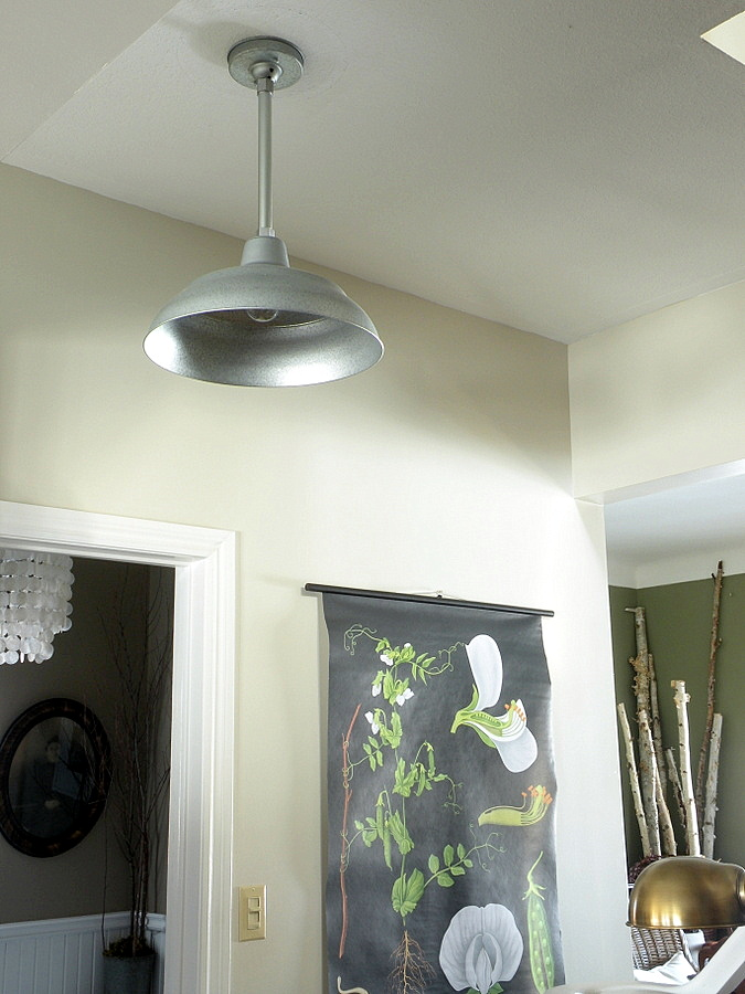 galvanized warehouse pendants bring shine into living. Black Bedroom Furniture Sets. Home Design Ideas