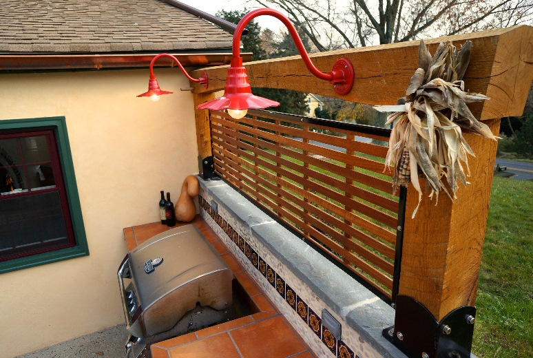 Sassy Gooseneck Lights Dress Up Outdoor Kitchen and Patio ...