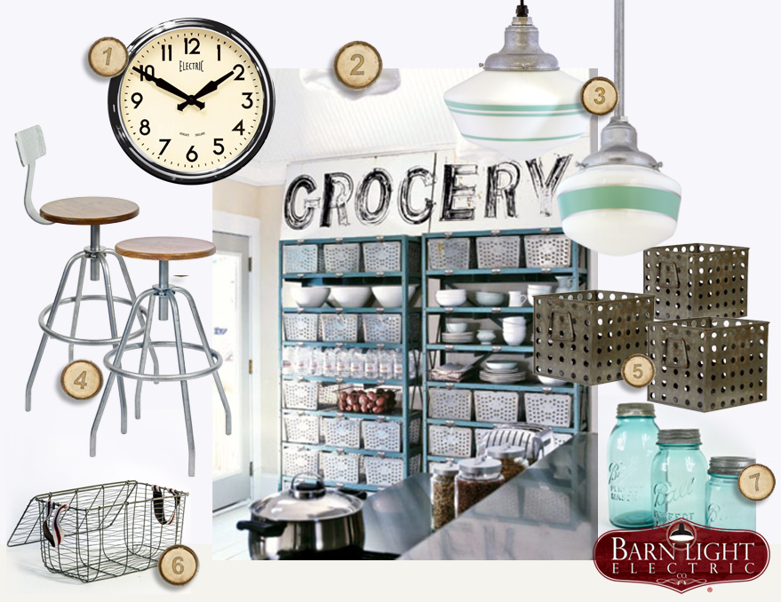 Vintage Industrial Kitchen Storage Style Board | Inspiration ...