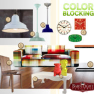 Style Me Sunday: Bright Color Blocking Living Room