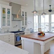 Rustic Pendants Add Industrial Style to Coastal Beach House