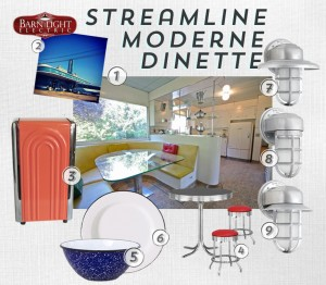 Get the look of Streamline Modern with these retro-inspired home goods.