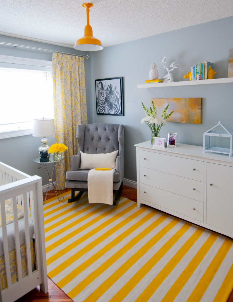 Shade Adds Pop Of Color To Chic Nursery