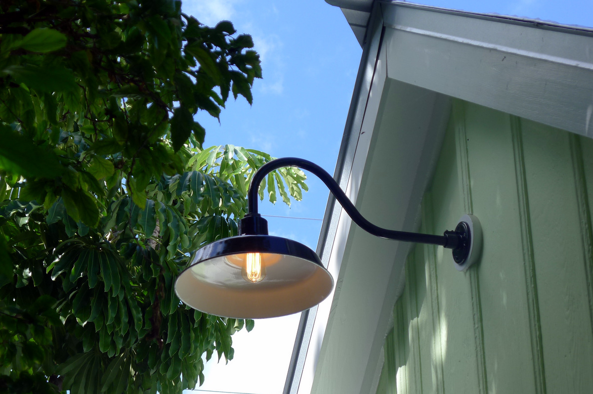 Gooseneck Barn Lights Bring Historic Touch to Conch-Style Home ...