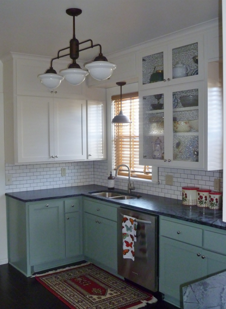 Warehouse Shades, Schoolhouse Lights Feature in Kitchen ...
