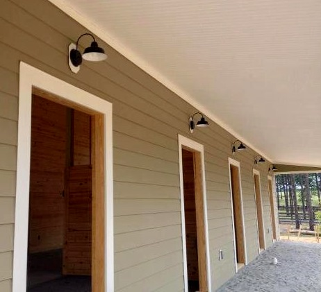 Classic Barn Lights in a Space with a Heart for ...