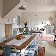 Classic Barn Warehouse Shades Add Vintage Touch to Retreat