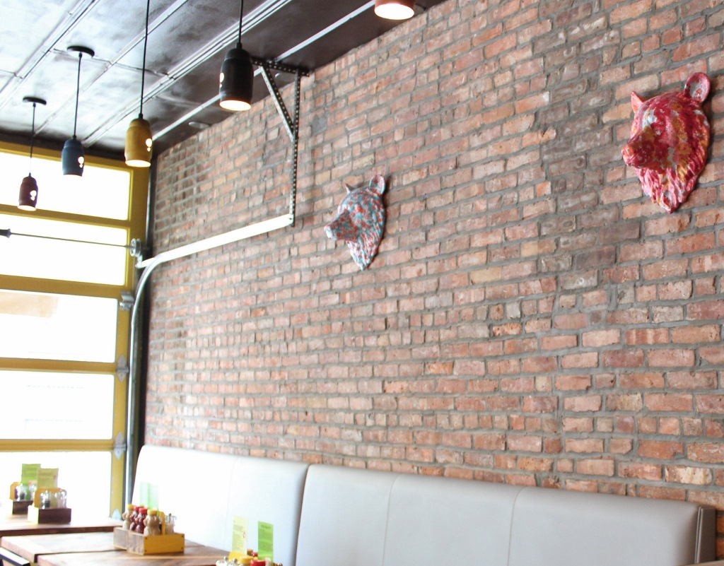 Pendants Lend Recycled Charm To Burger Restaurant