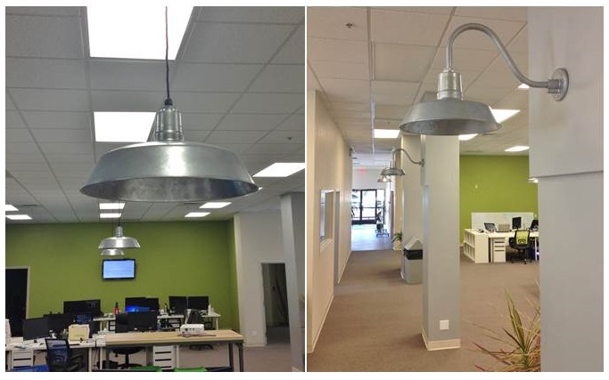 office space area lighting warehousing. office space lighting galvanized barn adds industrial vibe to area warehousing h