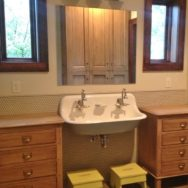 Featured Customer | Vintage Vanity Lights Add Retro Spin to Kids' Bath Remodel
