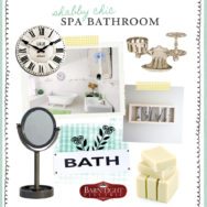 Style Me Sunday: Shabby Chic Bathroom Retreat