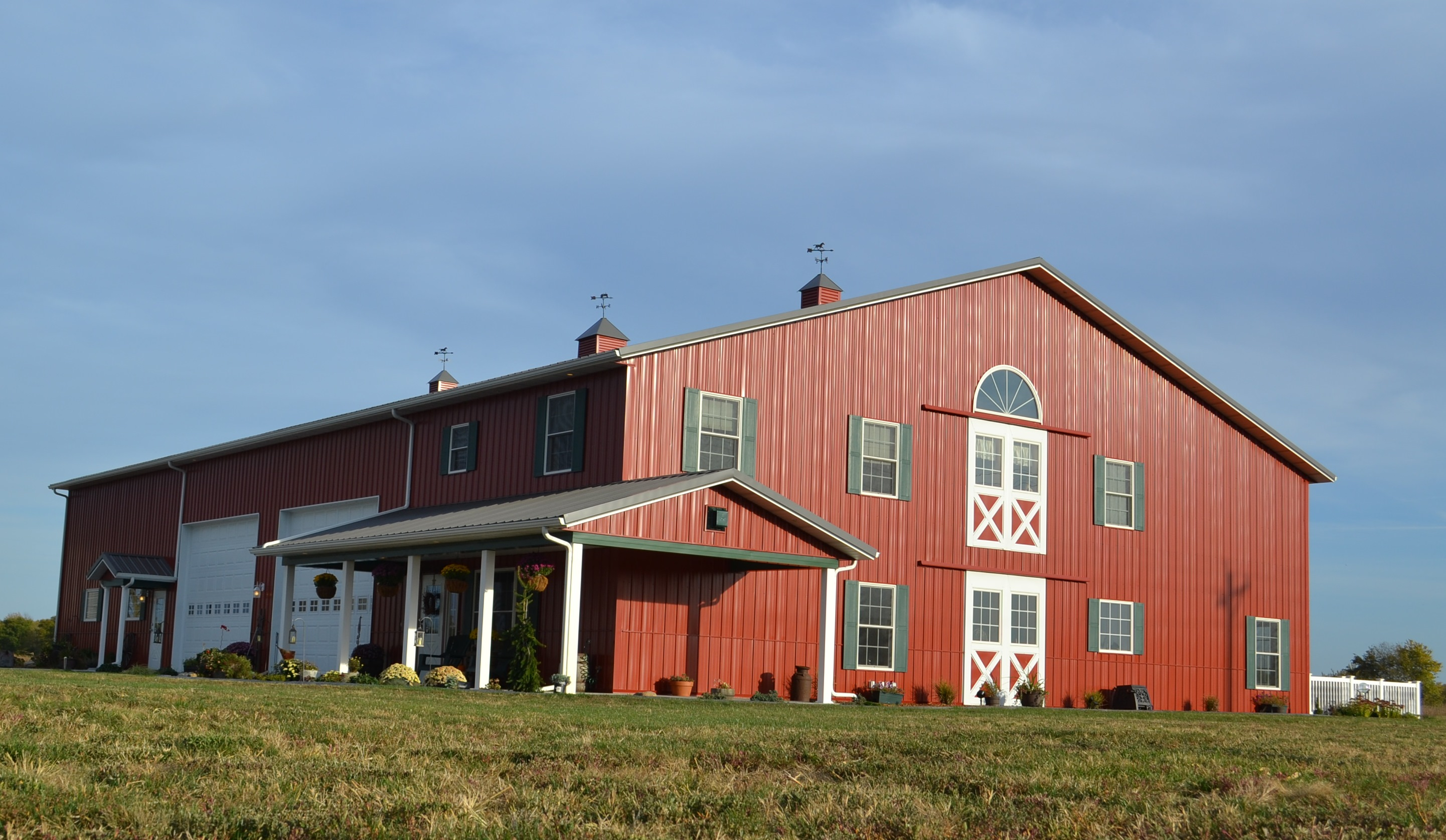 Galvanized Gooseneck Light Adds Fun Element To New Barn