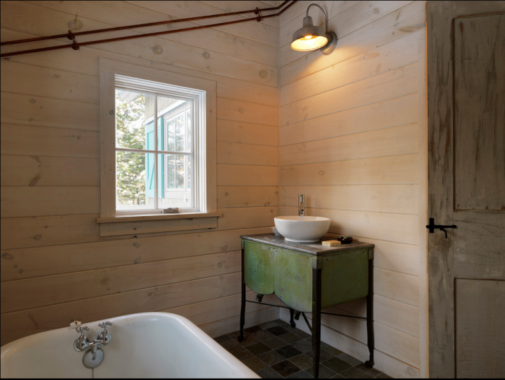 Classic Barn Sconce Becomes Vanity Light In A Vermont