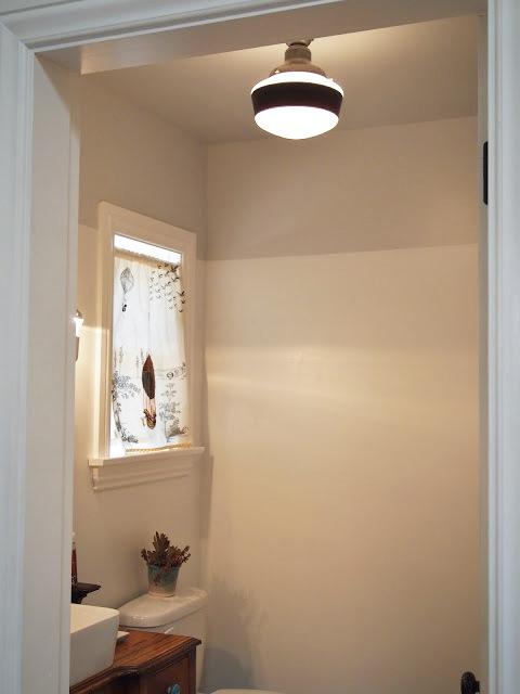 Vintage Schoolhouse Fixture Completes Art Studio Bath Space Blog - Bathroom light fixtures that hang from ceiling